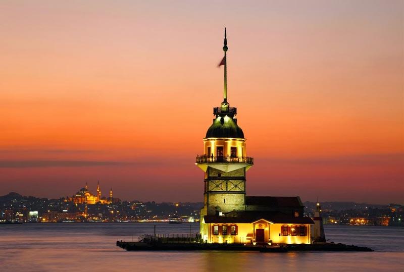 برج الفتاة الحالي بإسطنبول من الأبراج المشهورة في تركيا