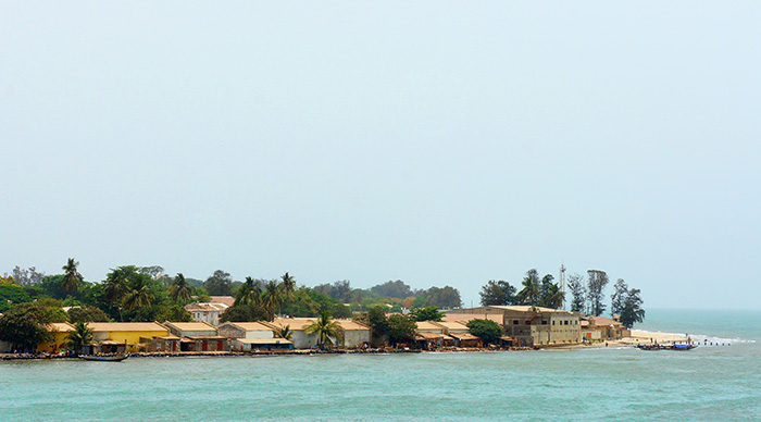 Estuary of Gambia river