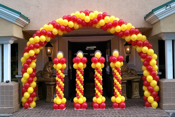 How To Make A Balloon Arch With A Fishing Line