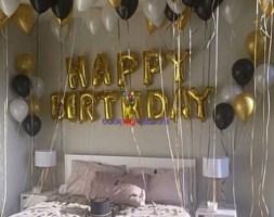 40 Helium + Happy Birthday Foil