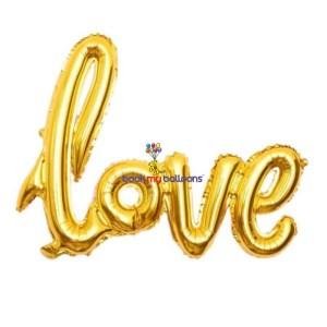 valentines love foil balloons