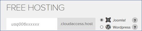 free-joomla-hosting - step 1