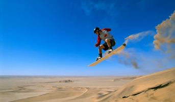Alter Action Sandboarding in Namibia