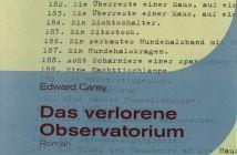 Edward Carey - Das verlorene Observatorium (Cover © Liebeskind Verlag)