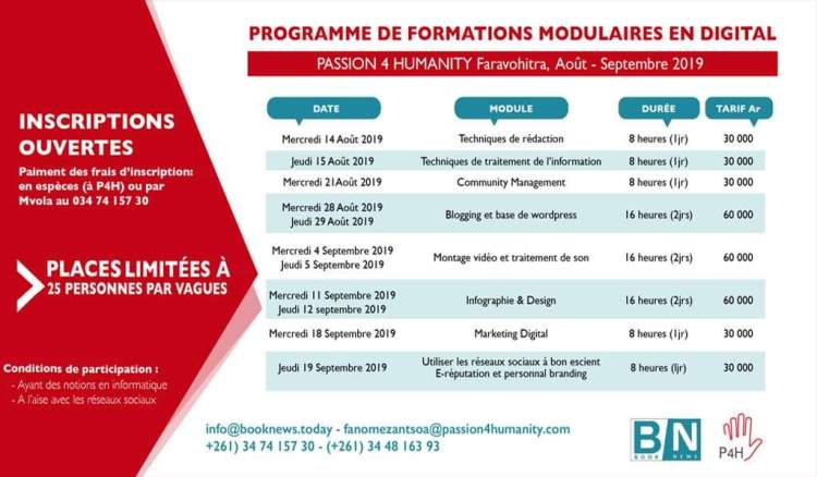 formations modulaires Book News Madagascar