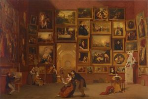 Gallery of the Louvre by Morse