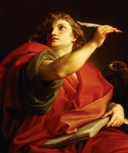 ST JOHN THE EVANGELIST by Pompeo Batoni (1708-1787) from Basildon Park. The Italian painter born in Lucca was celebrated for his portraits.