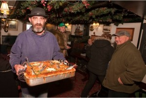 """Jonathan Madron is """"Tom Bawcock"""" the legendary fishermen that brought fish to the starving in Mousehole in the form of Starry Gazey Pie at The Ship Inn. Picture Phil Monckton."""