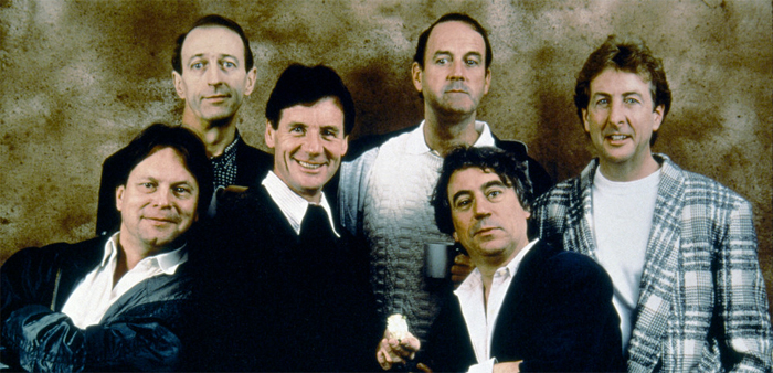 Graham Chapman, John Cleese, Terry Gilliam, Eric Idle, Terry Jones, and Michael Palin