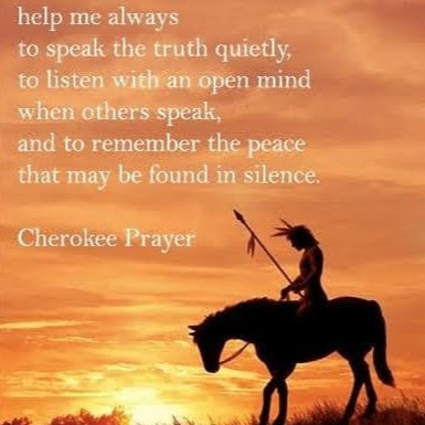 O' great spirit - Cherokee Prayer