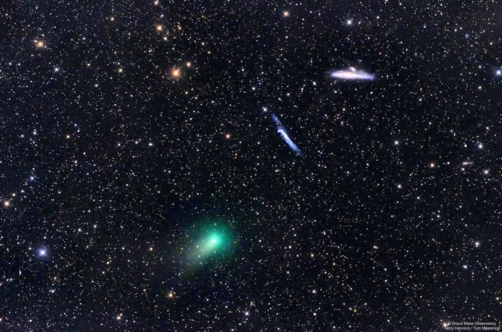 Comet, whale, hockey stick