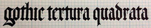 gothic textura quadrata
