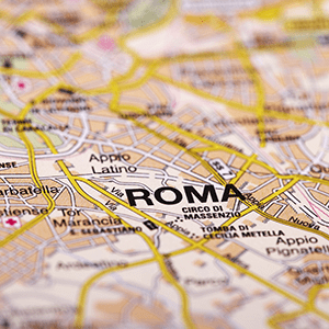 Copyright Adobe Stock. Rome Map Detail; selective focus By Jules_Kitano