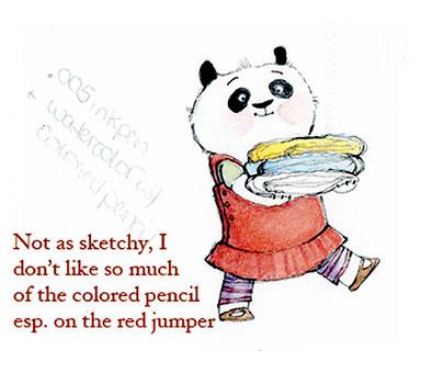 Preliminary Sketches For Amanda Panda Quits Kindergarten