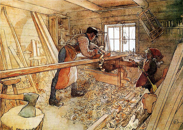 """In the Carpenter Shop,"" Carl Larsson"
