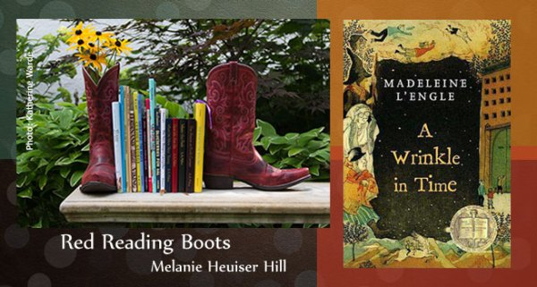 Red Reading Boots A Wrinkle in Time