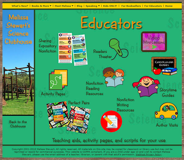 Melissa Stewart's Educators' Resources