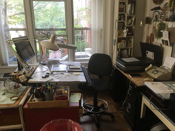 Paul O. Zelinsky's studio