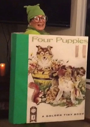 Maurna Rome Halloween costume The Four Puppies