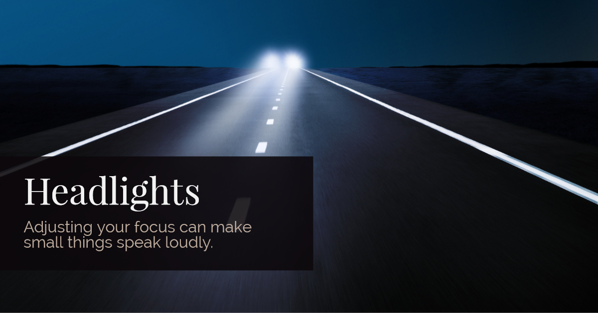 Writing Road Trip | Headlights by Lisa Bullard