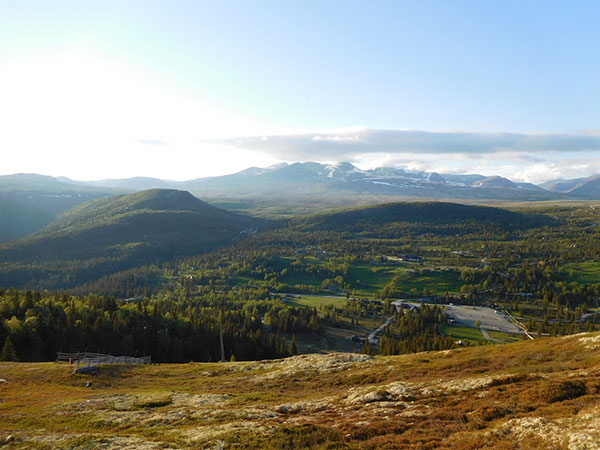 Panoramic view in Norway