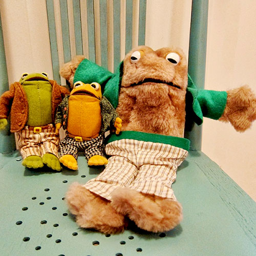 Frog and Toad dolls