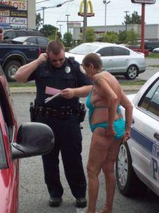 funny old lady in bikini