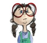 cartoon nerd girl
