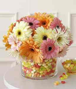 jelly bean centerpiece flowers baby shower