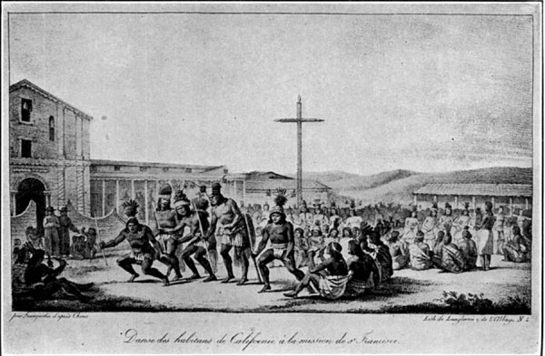 A Dance of California Indians at the Mission (Dolores) of San Francisco (1816)