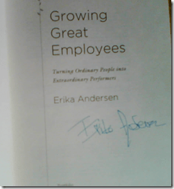 Autograph by Erika Andersen
