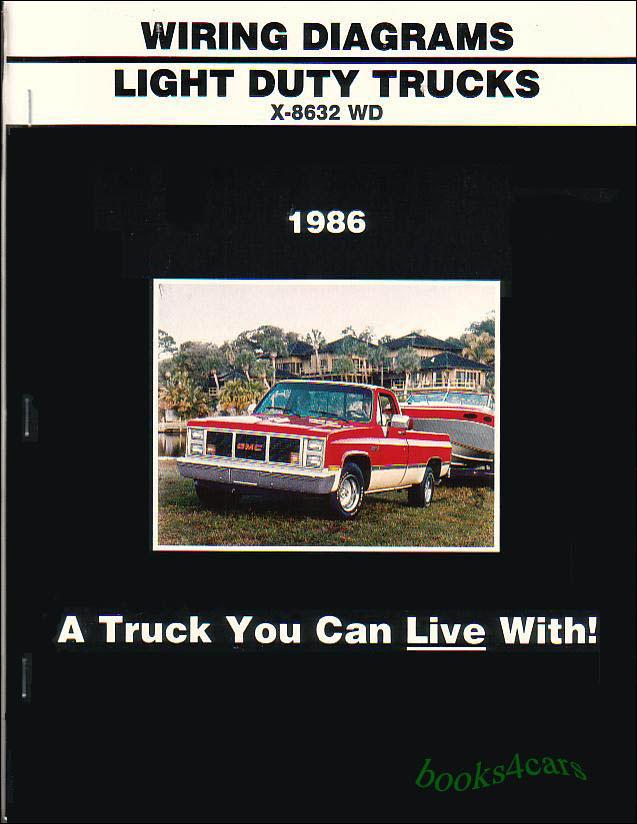 truck manual wiring diagram book 1986 chevrolet gmc c/k