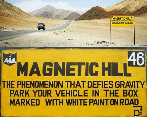 Magnetic Hill in Ladakh India Mysteries