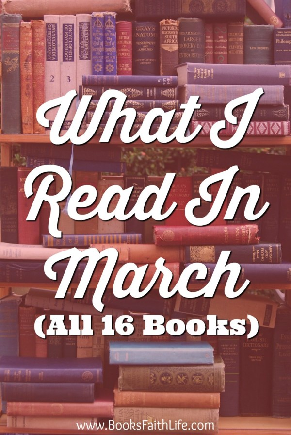 Here are short reviews on the 16 books I read over the past 30 days as a busy mom!