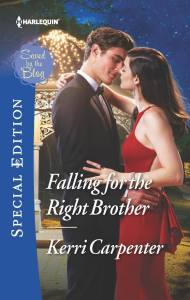 "Kerri Carpenter ""Falling for the Right Brother"" book cover"