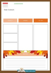 October Three Daily Printable V3 with Lifestyle options Final 2019 212x300 Authors Dish Thanksgiving with Luna Joya