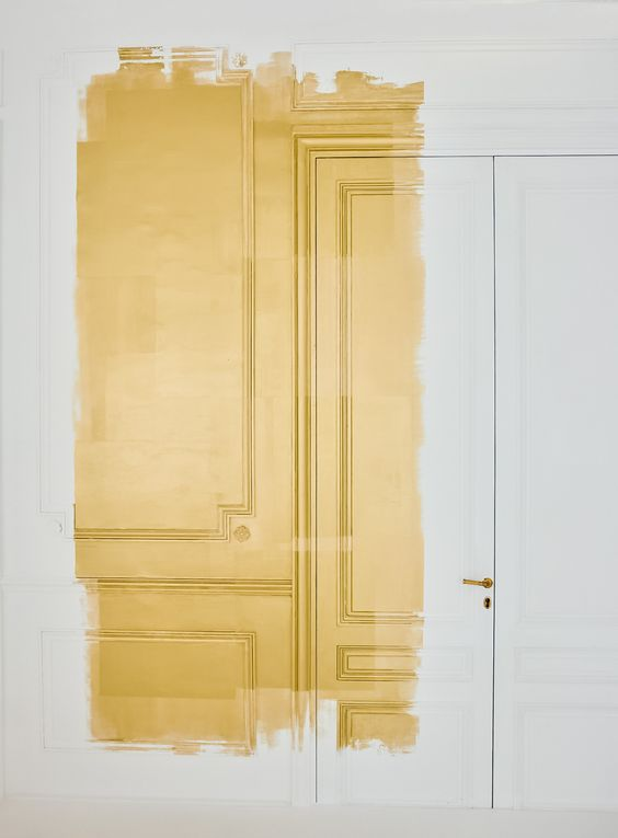 Gold metal door