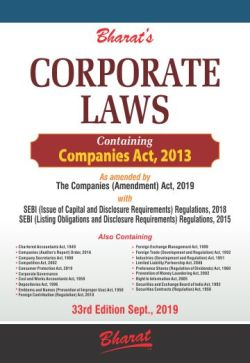 Bharat's CORPORATE LAWS Containing Companies Act, 2013 & Allied Laws