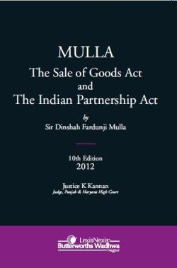 Sir Dinshaw Fardunji Mulla The Sale of Goods Act and The Indian Partnership Act