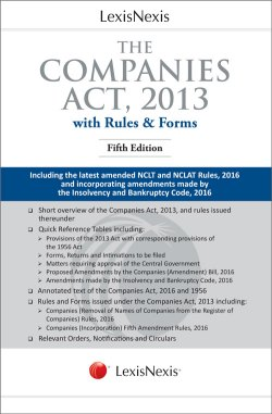 The Companies Act, 2013 (With Rules and Forms)