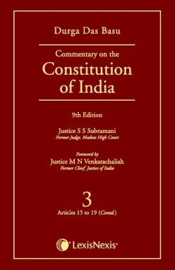 COMMENTARY ON THE Constituiton of India Vol 3(Covering Articles 15 to 19 (Contd.))