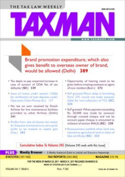 Taxman-The Tax Law Weekly with 2 Daily e-Mail Services