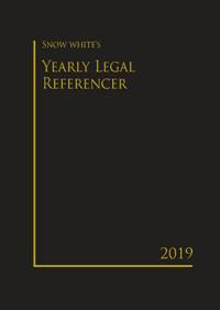 SNOW WHITE'S YEARLY LEGAL REFERENCER 2019( MEDIUM)