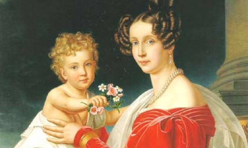 Erzherzogin Sophie und Franz Joseph als Kleinkind