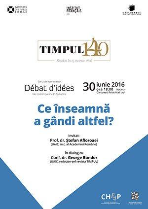 dezbatere timpul