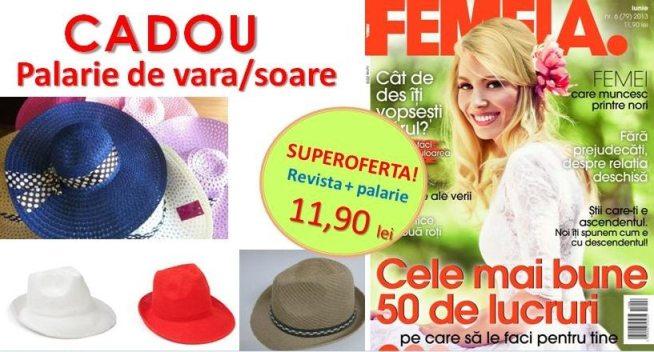 revista_femeia_+_palarie_de_vara