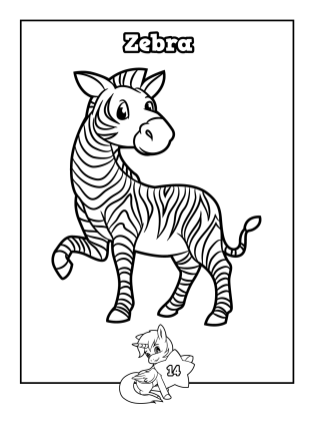 Perry & Winkle - My First Words Coloring Book Level 22