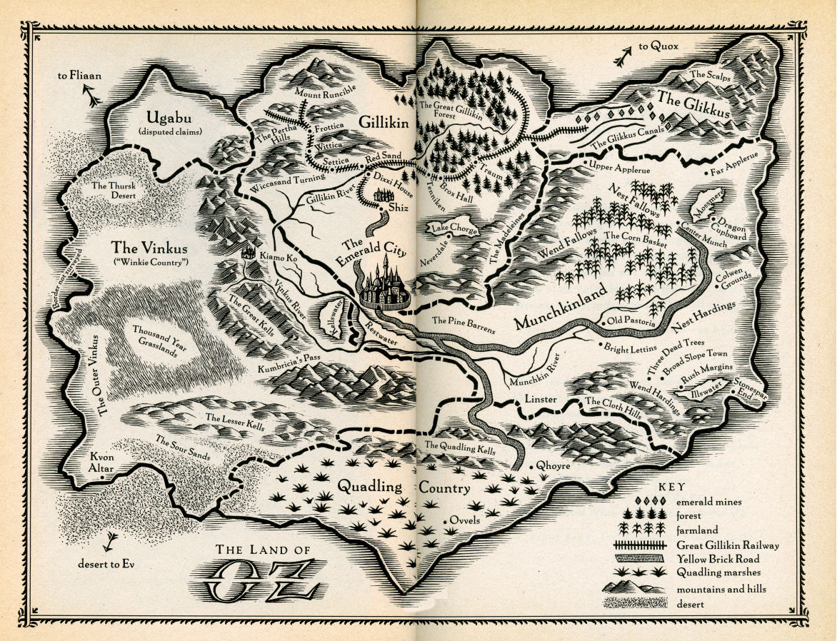 Map of Oz, from Wicked