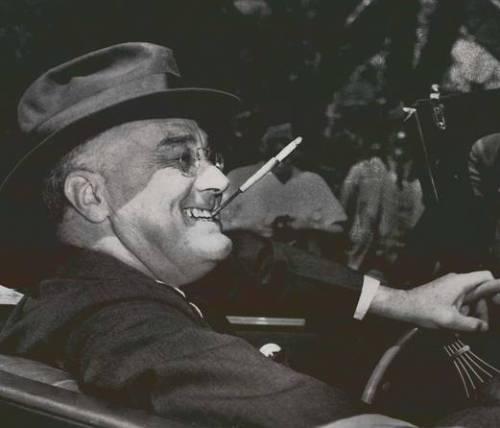 Roosevelt and his cigarette holder