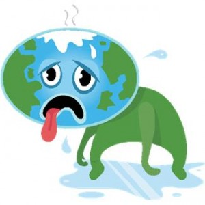 Sick earth global warming